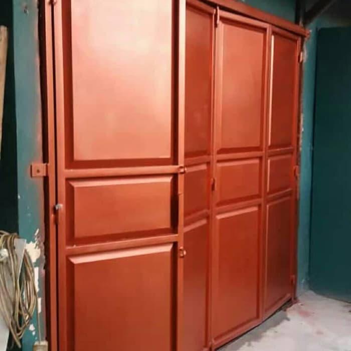 Pintu Garasi Besi Merah